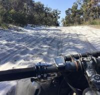 Tratto in sabbia verso Booner Mundak Hut