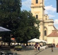 Cluj Napoca, piazzetta del centro storico