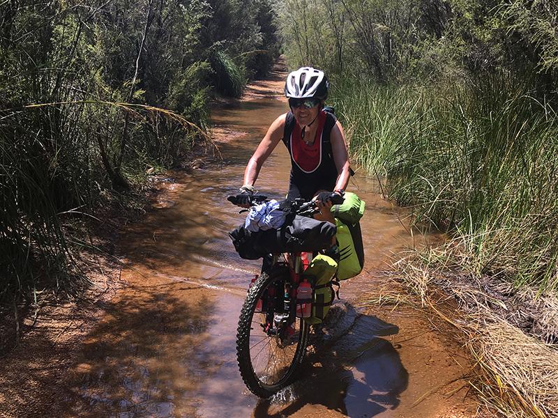 Biking on wetland