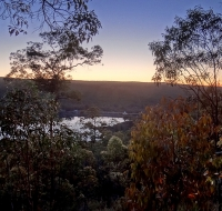Tramonto a Mundaring Weir
